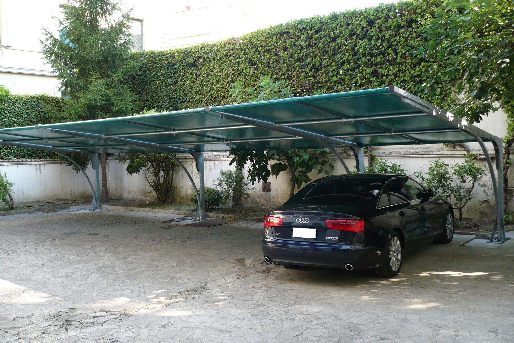 Free round with copertura auto in ferro - Coperture auto da giardino ...